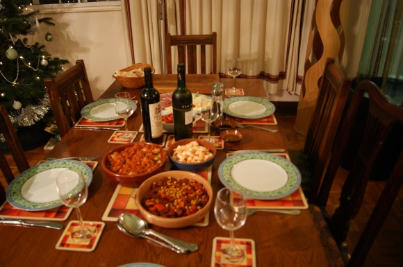 It's become a bit of a tradition to have tapas on christmas eve, here's our feast!